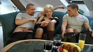 3some With Short Hair Czech MILF Expressing Love added to Care