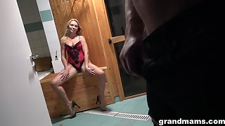 Young Alfonso is fucking seductive aged woman in dispirited lingerie