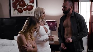 Wild threesome fucking with cock hungry Christie Stevens & Natalie Paladin
