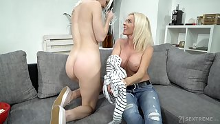 Mature lady uses her seductive charms on a young unspecified with a big butt