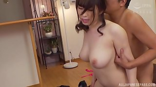 Gentle fucking on the frame with hot bore Japanese MILF Takarada Monami