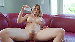 Matchless mature nurturer Cory Chase takes off her clothes all round masturbate