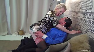 Dude with a massive dig up fucks his horny mature housewife Elena