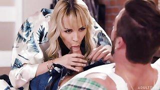 Horny middle aged mommy Dana DeArmond seduces will not hear of stepson Lucas Frost